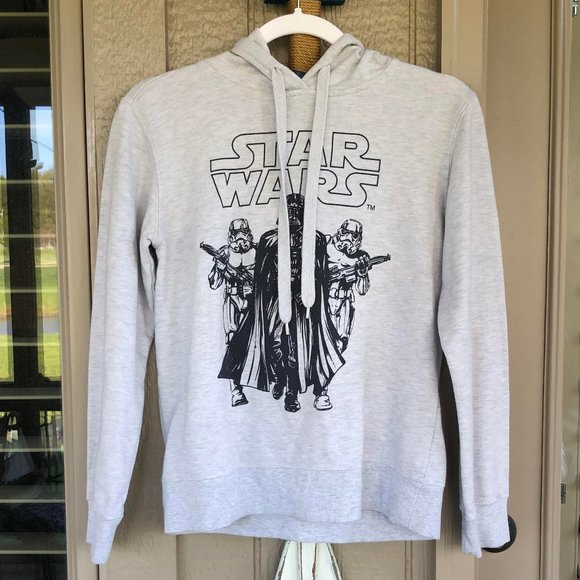 STAR WARS Gray Men's Hoodie - Size Small